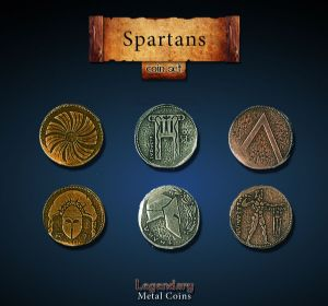 Legendary Metal Coins : Spartan Coin Set